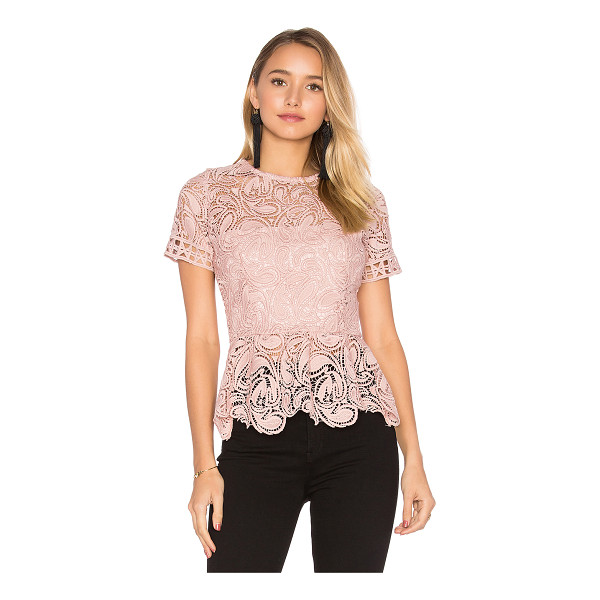 KARINA GRIMALDI Rosa Lace Top - Poly blend. Hand wash cold. Allover lace fabric with...