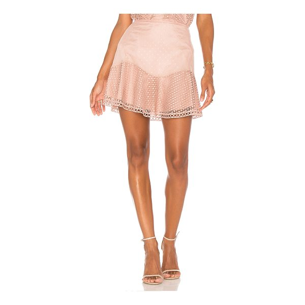 """KARINA GRIMALDI Samantha Combo Skirt - """"Self & Lining: 100% poly. Dry clean only. Fully lined...."""