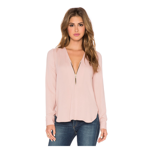 KARINA GRIMALDI Sofia top - Poly blend. Dry clean only. Partial zip front closure....