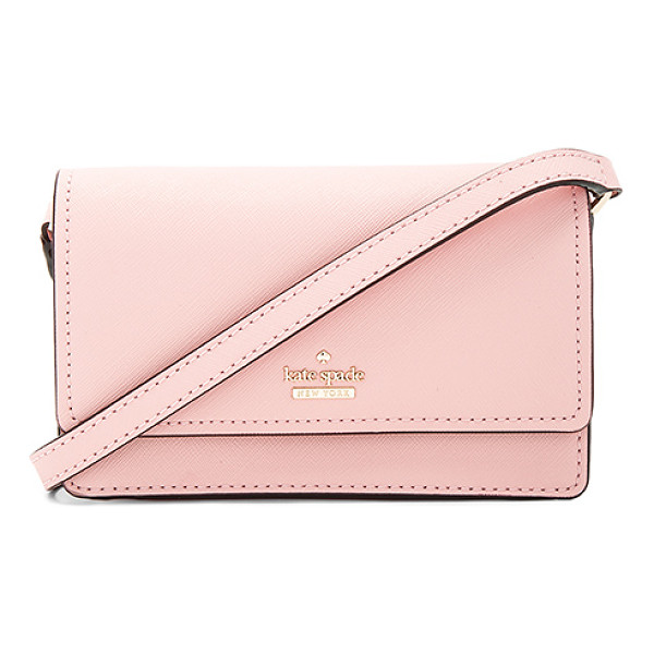 KATE SPADE NEW YORK Arielle Crossbody - Leather exterior with print poly lining. Flap top with