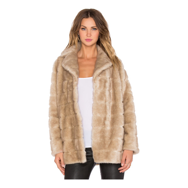 KATE SPADE NEW YORK Blonde mink faux fur coat - Self: 100% modacrylicBacking: 100% polyLining: 96% poly 4%...
