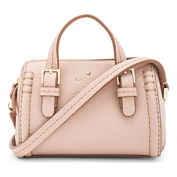 KATE SPADE NEW YORK Charlie Crossbody - Leather exterior with poly fabric lining. Zip top closure.