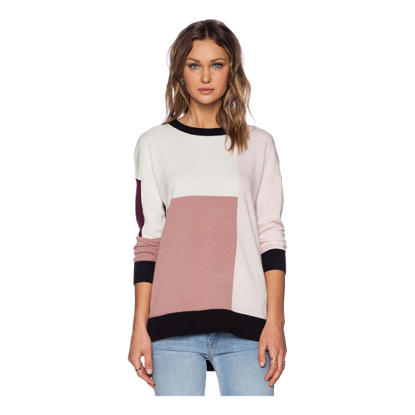 KATE SPADE NEW YORK Colorblock slouchy sweater - 50% wool 35% modal 11% polyamide 4% cashmere. Dry clean...