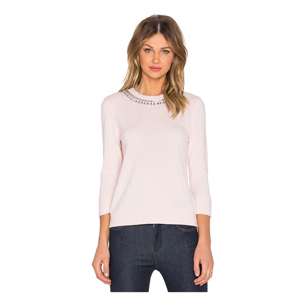 KATE SPADE NEW YORK Embellished necklace sweater - 49% wool 37% modal 10% polyamide 4% cashmere. Dry clean...