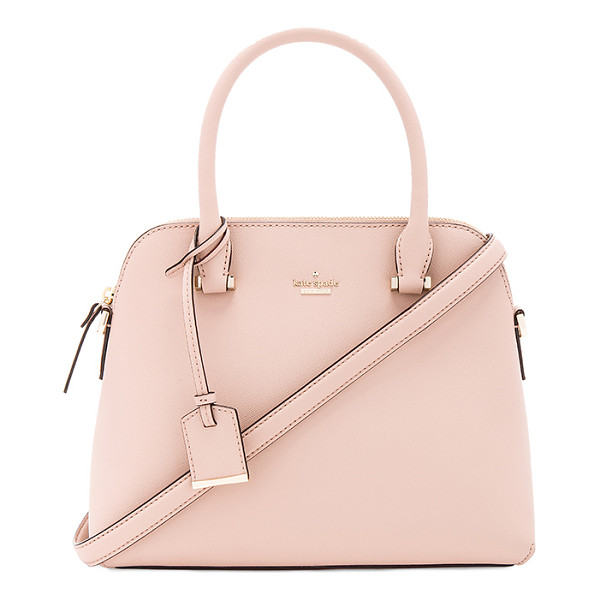 KATE SPADE NEW YORK Maise Satchel - Leather exterior with poly fabric lining. Zip top closure...