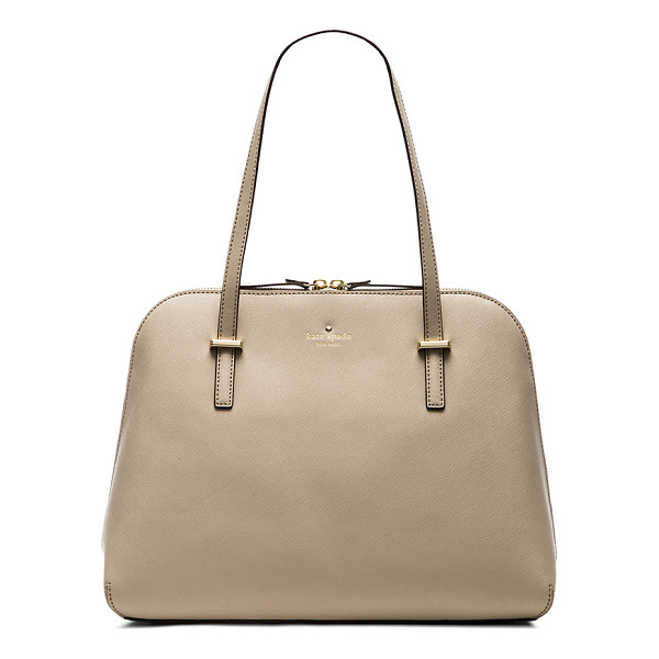 KATE SPADE NEW YORK Maise shoulder bag - Leather exterior with jacquard fabric lining. Measures...