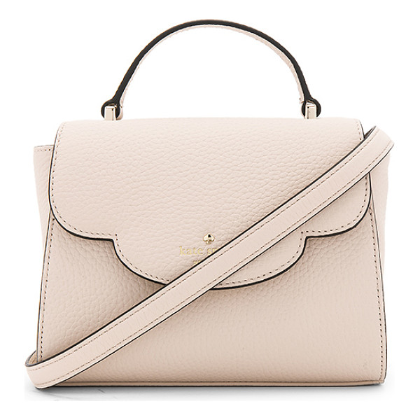 KATE SPADE NEW YORK Mini Makayla Bag - Leather exterior with poly fabric lining. Flap top with
