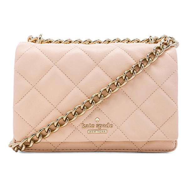 KATE SPADE NEW YORK Mini vivenna crossbody - Quilted leather exterior with jacquard fabric lining....