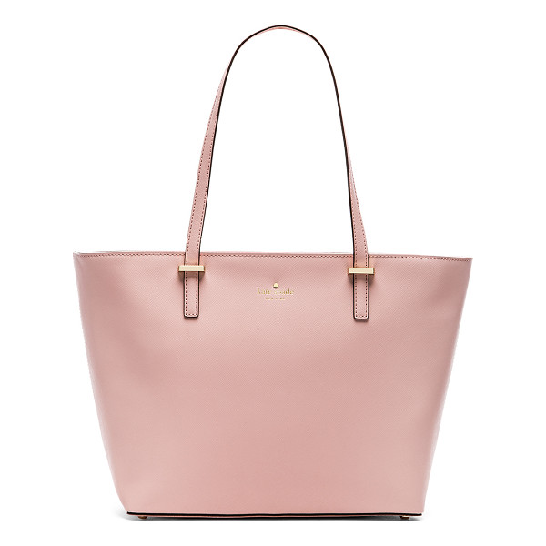 KATE SPADE NEW YORK Small harmony tote - Leather exterior with jacquard fabric lining. Measures...