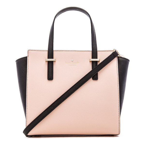 KATE SPADE NEW YORK Small hayden bag - Leather exterior with jacquard fabric lining. Measures...
