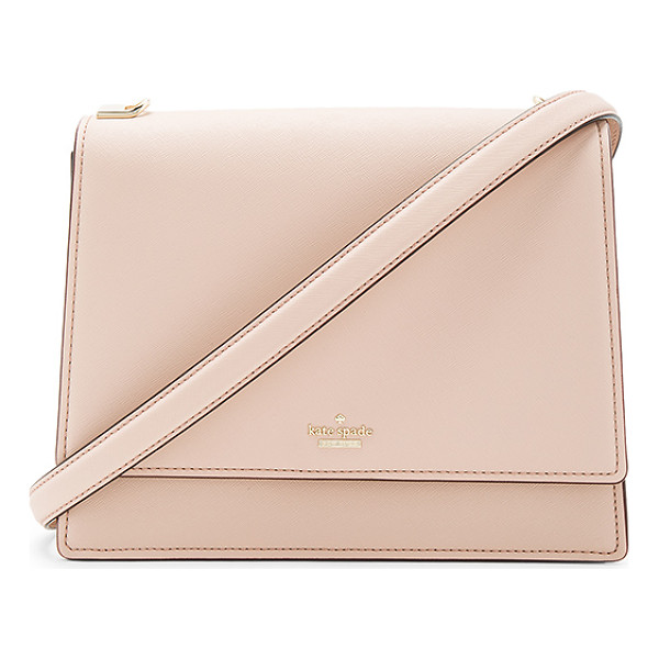 KATE SPADE NEW YORK Sophie Long Shoulder Bag - Leather exterior with poly fabric lining. Flap top with