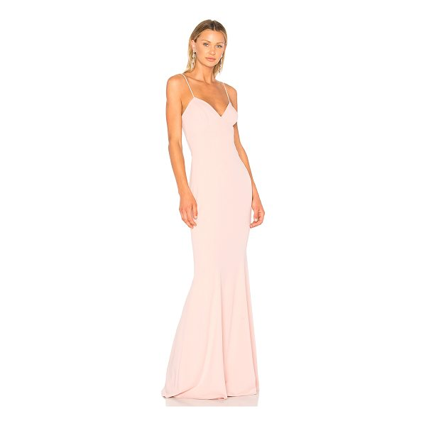 KATIE MAY Luna Gown - Self: 97% poly 3% spandexLining: 100% poly. Dry clean only....
