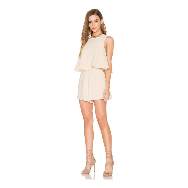 KEEPSAKE Slow Motion Playsuit - Self: 97% rayon 3% spandexLining: 97% poly 3% elastane....