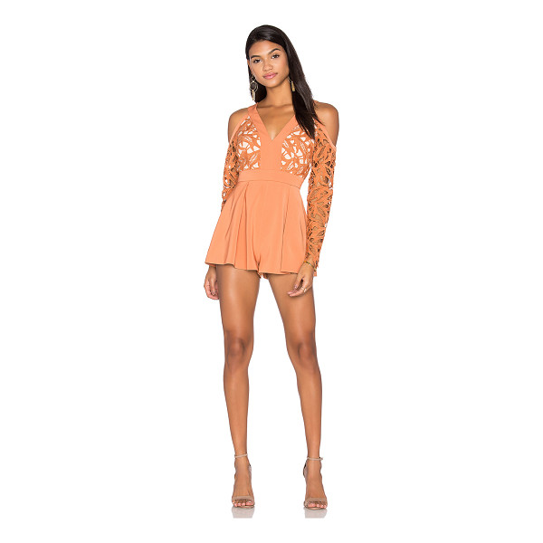 KEEPSAKE The Moment Lace Romper - Self & Lining: 100% poly. Hand wash cold. Open shoulders....