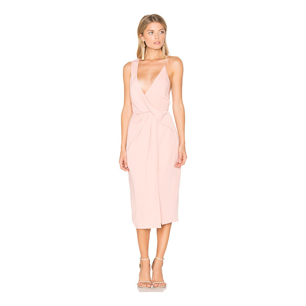 KEEPSAKE Without You Dress - Self & Lining: 100% poly. Hand wash cold. Surplice neckline...