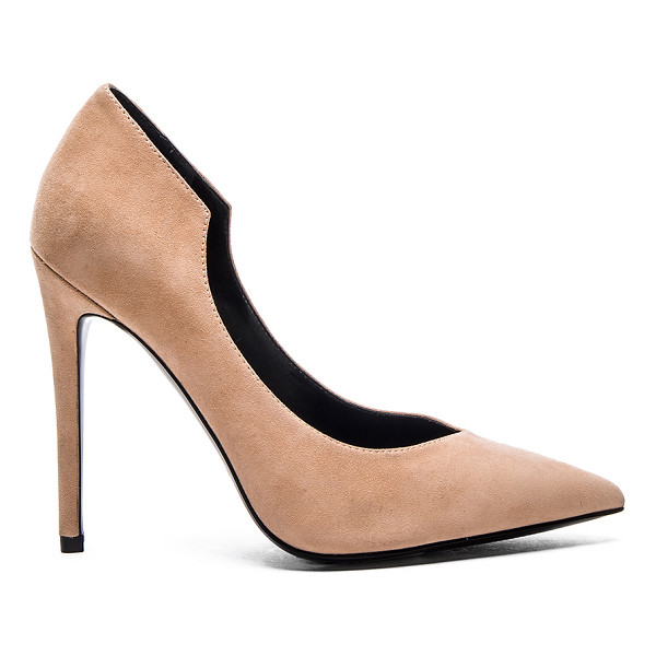 """KENDALL + KYLIE Abi Heel - Suede upper with man made sole. Heel measures approx 4.5""""""""..."""