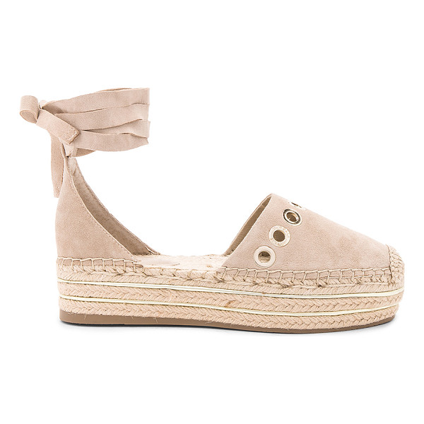 KENDALL + KYLIE Ariela Espadrille - Suede upper with man made sole. Wrap ankle with tie