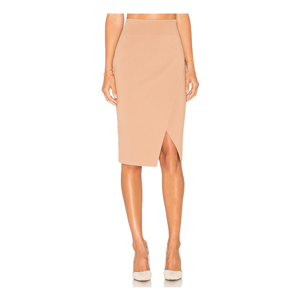 KENDALL + KYLIE Compact Overlap Pencil Skirt - Viscose blend. Dry clean only. Unlined. Elastic stretch...