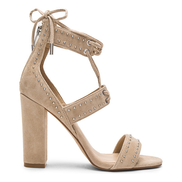 KENDALL + KYLIE Dawn Heel - Suede upper with man made sole. Back zip closure. Lace-up