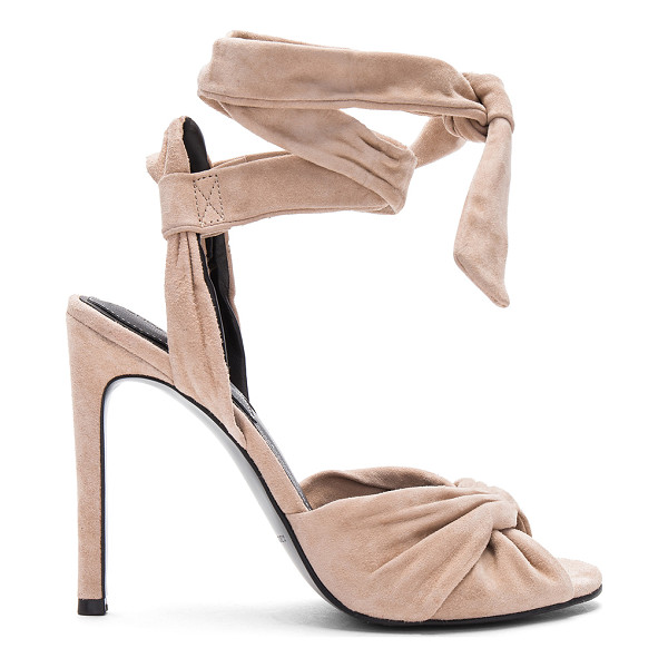 KENDALL + KYLIE Delilah Heel - Suede upper with man made sole. Wrap ankle with tie...