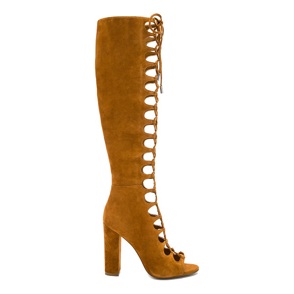 KENDALL + KYLIE Emma Heel - Suede upper with man made sole. Side zip closure. Lace-up