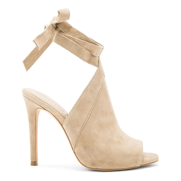 KENDALL + KYLIE Evelyn Heel - Suede upper with man made sole. Wrap ankle strap with tie...