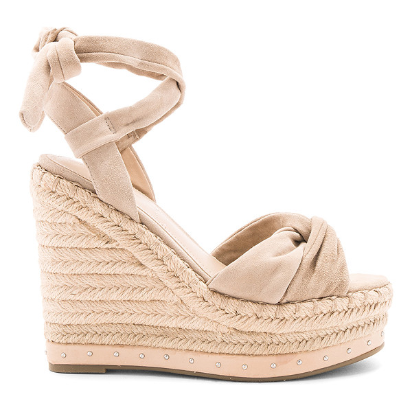 "KENDALL + KYLIE Grayce Wedge - ""Suede upper with rubber sole. Wrap ankle with tie closure...."