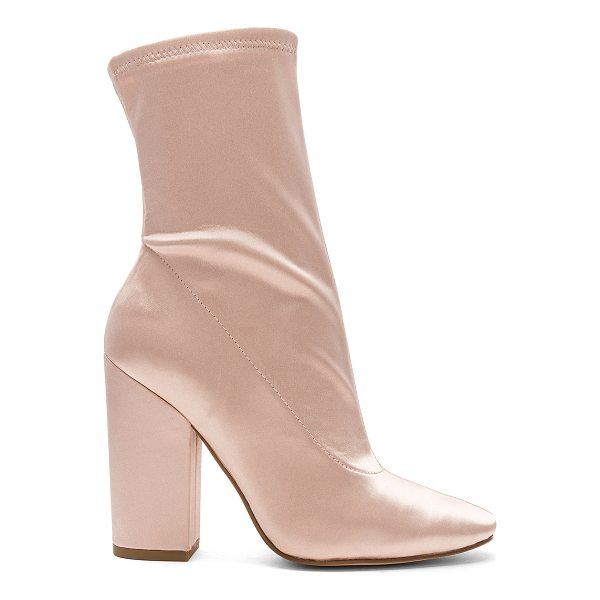 "KENDALL + KYLIE Hailey Bootie - ""Satin textile upper with man made sole. Side zip closure...."