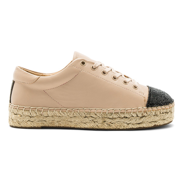 KENDALL + KYLIE Joslyn Sneaker - Leather upper with rubber sole. Lace-up front. Crystal...