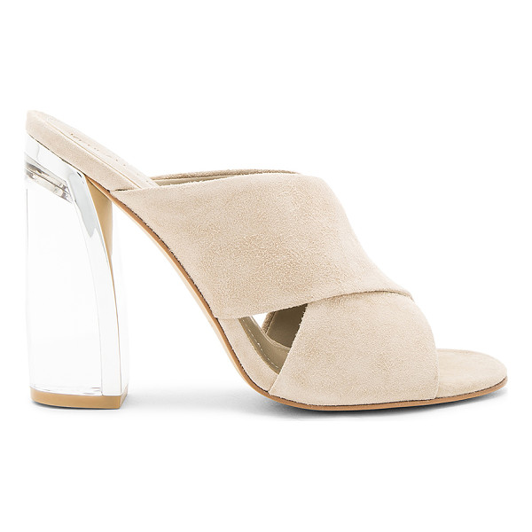 KENDALL + KYLIE Karmen Heel - Suede upper with man made sole. Slip-on styling. Metallic