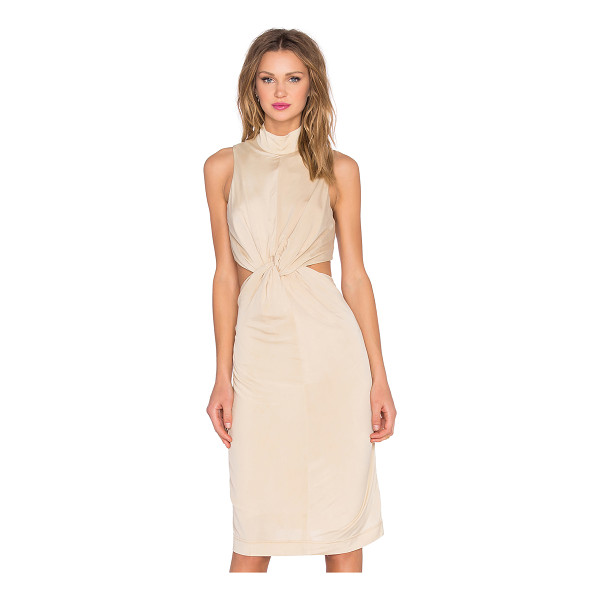 KENDALL + KYLIE Knot Front Jersey Dress - Viscose blend. Dry clean only. Fully lined. Waist cut-out...