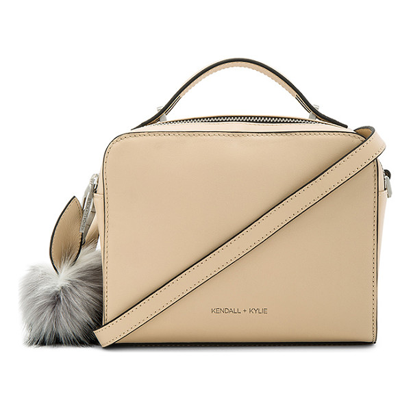 KENDALL + KYLIE Lucy Crossbody - Leather exterior with faux suede lining. Zip top closure.