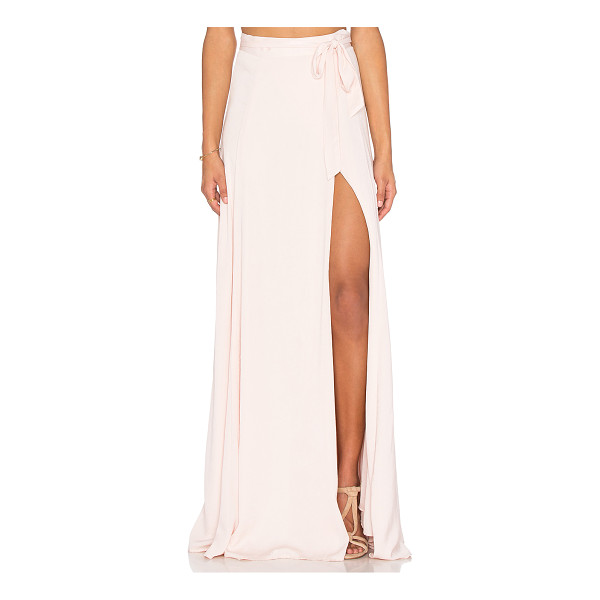 KENDALL + KYLIE Maxi Wrap Skirt - Rayon blend. Dry clean only. Fully lined. Wrap front with...