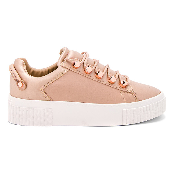 """KENDALL + KYLIE Rae Sneaker - """"Satin textile upper with rubber sole. Lace-up front...."""