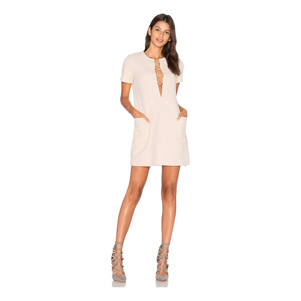 KENDALL + KYLIE Safari Dress - 96% poly 4% spandex. Unlined. Front lace-up tie closure....