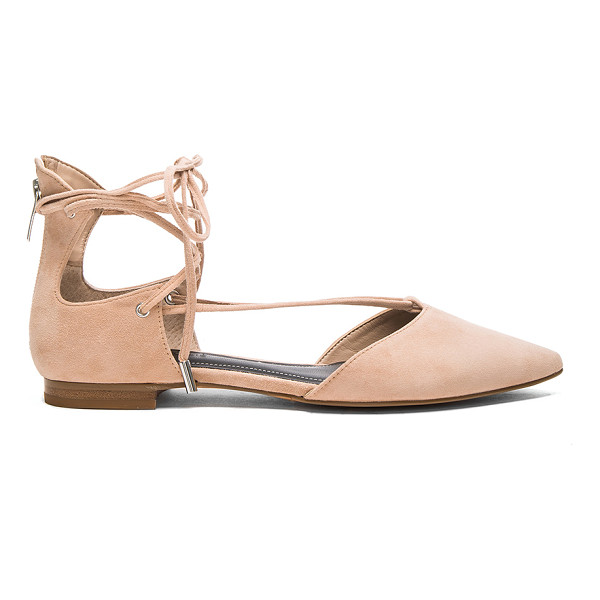 KENDALL + KYLIE Sage Flat - Suede upper with man made sole. Lace-up front with wrap tie...