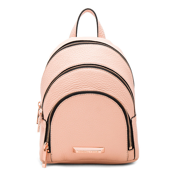 KENDALL + KYLIE Sloane Mini Backpack - Leather exterior with suede lining. Zip around closures.