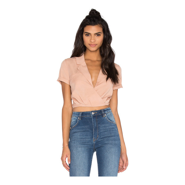 KENDALL + KYLIE Tie Back Top - Poly blend. Hand wash cold. Wrap front. Back cut-out with...