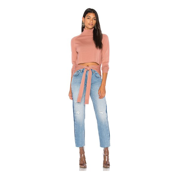KENDALL + KYLIE Tie Front Sweater - 100% merino wool. Dry clean only. Knit fabric. Wraparound...