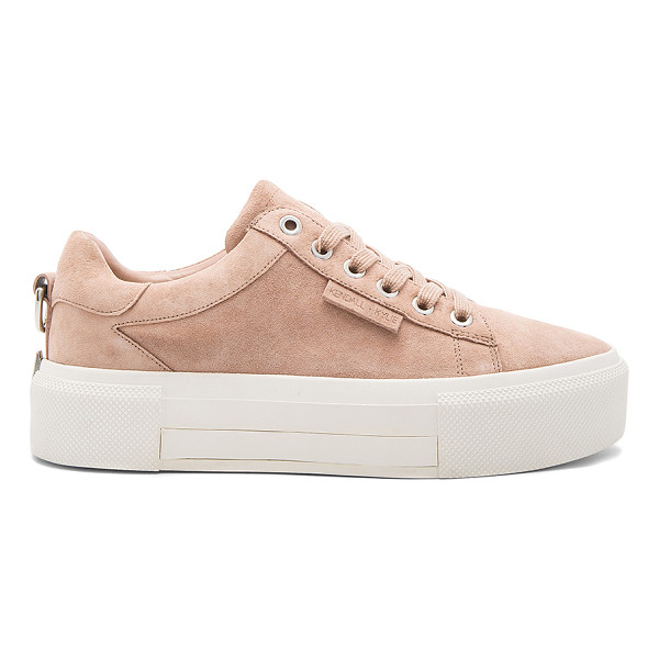 KENDALL + KYLIE Tyler Sneaker - Suede upper with rubber sole. Metallic accents on back....