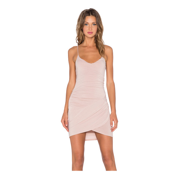 KRISA Gather Cami Dress - 95% micro modal 5% spandex. Unlined. Ruched sides....
