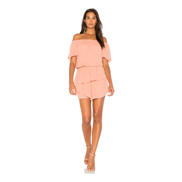 """KRISA Layered Off Shoulder Dress - """"100% poly. Fully lined. Elasticized neckline and waist...."""