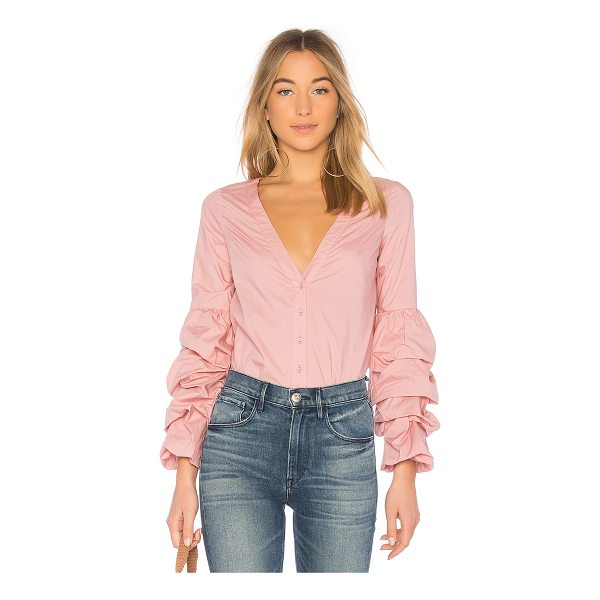 L'ACADEMIE Emma Blouse - The Emma Blouse by L'Academie is the perfect counterpart to...