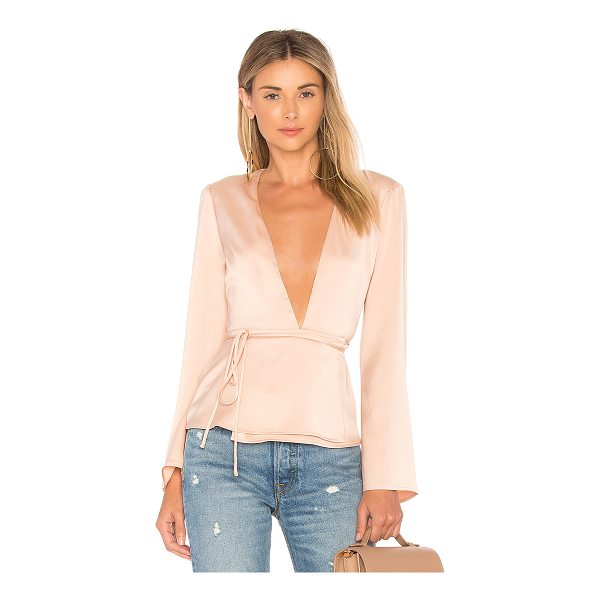 L'ACADEMIE The Eliot Blouse - Soft satin evokes a sensual touch to the Eliot Blouse. A...