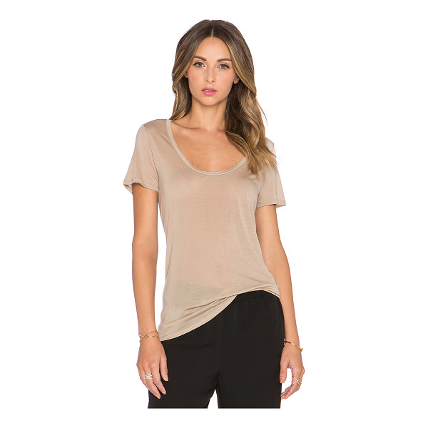 L'AGENCE Perfect scoop neck tee - 100% lyocell. Hand wash cold. Jersey knit fabric....