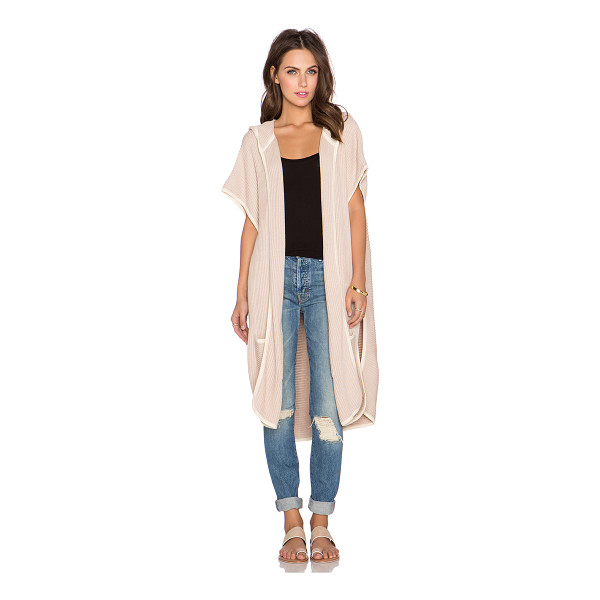 LAMADE Eva piped cardigan - Cotton blend. Open front. Hooded. Front patch pockets. Side...