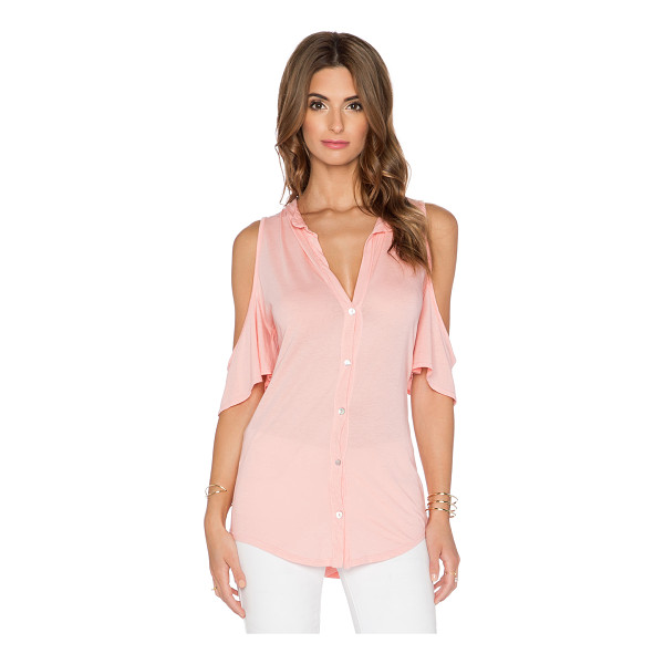 LAMADE Half sleeve button up - 50% supima cotton 50% micromodal. Front button closure....