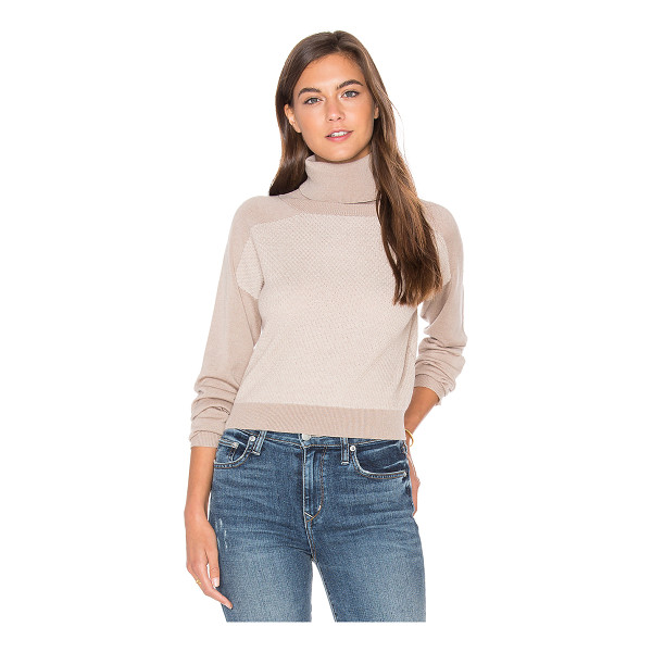 LAMADE Trish Cropped Sweater - 55% silk 45% cotton. Hand wash cold. Banded edges....