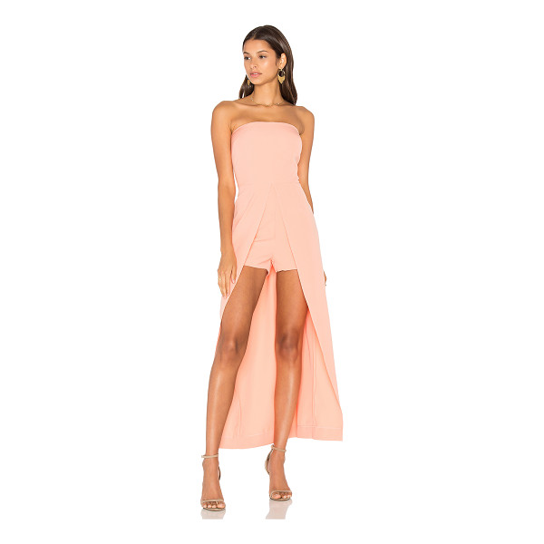 LAVISH ALICE Bandeau Maxi Overlay Playsuit - 97% poly 3% elastane. Hand wash cold. Back hidden zipper