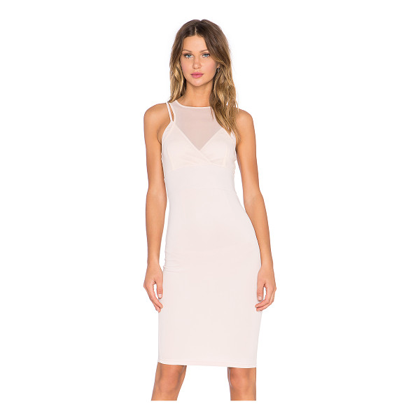 LAVISH ALICE Mesh top dress - 93% poly 7% spandex. Hand wash cold. Partially lined. Back...
